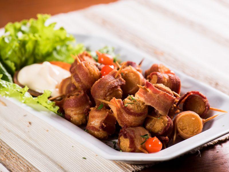 Medalhão de Mandioca c/ Bacon