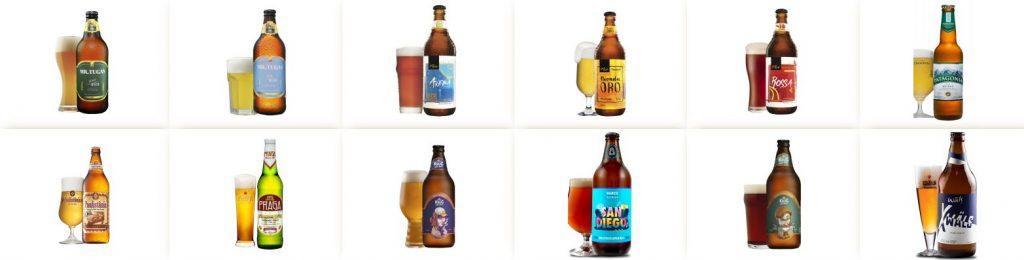 12 garrafas de cervejas, da carta de cervejas especiais do Clube do Cervejeiro Procopão