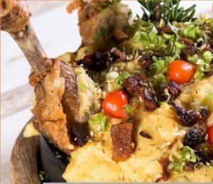 Foto do Galo de Espora, prato que faz parte do Cardápio do Procopão