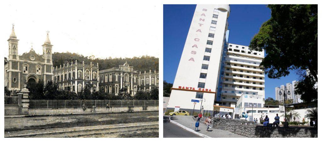 Fotos antigas de Juiz de Fora: Antes e depois da Santa Casa de Juiz de Fora