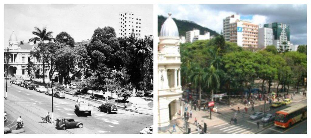 Fotos antigas de Juiz de Fora: Antes e depois do Parque Halfeld