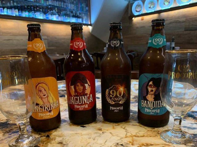 Cervejas do Procopão: rótulos comemorativos para os 90 anos